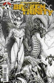 Broken Trinity #3 Cover C Sketch Variant Keown (2008) Witchblade The Darkness Top Cow comic book